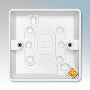 MK Electric Surface Backbox 1 Gang Plastic 16mm White