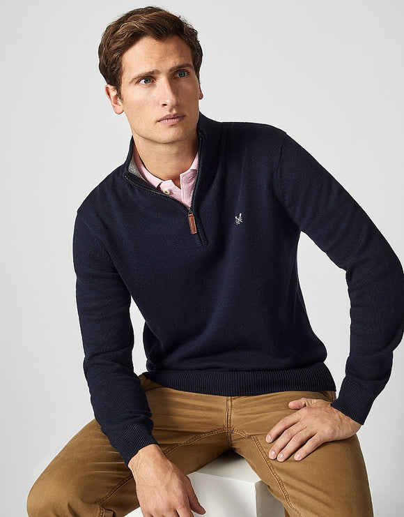 Crew Clothing Classic Half Zip Knit Jumper