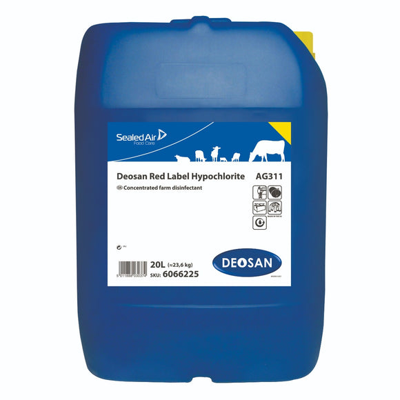 Deosan Sterilizer Red Label Hypochlorite 20L