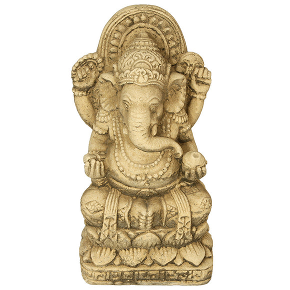 Willowstone Antique Cream Ganesh Statue OR22AC