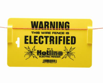 Hotline Electric Fencing Warning Sign