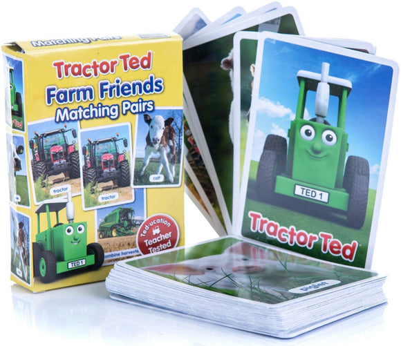 Tractor Ted Farm Pairs Card Game