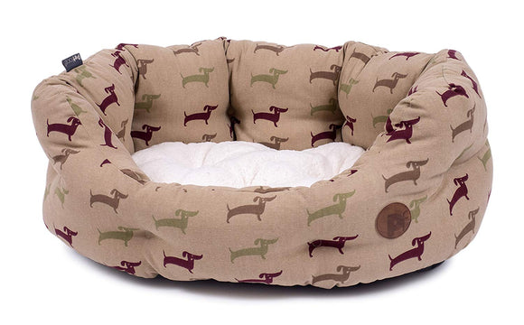 Petface Deli Pattern Dog Bed L