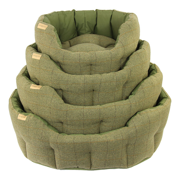 Earthbound Dog Beds Waterproof Tweed M