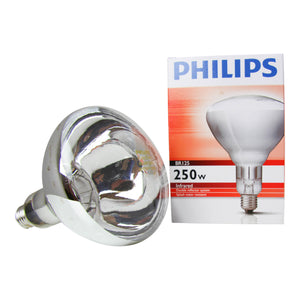 Phillips BR125 IR Infra-Red 250W Clear Bulb