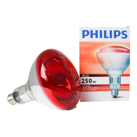 Phillips BR125 IR Infra-Red 250W Ruby Bulb