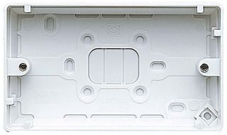 MK Electric Surface Backbox 2 Gang White