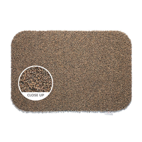 Hug Rug Door Mat Plain Coffee Brown