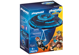 Playmobil The Movie Rex Dasher with Parachute 70070