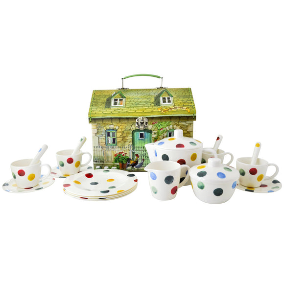 Emma Bridgewater Polka Dot Dollies Tea Set House Carry Case