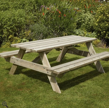 Woodshaw Appleton Rectangle Picnic Bench 1.8m
