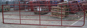 Tubular Field Gate with Gate Eyes Red 11' & 6 Rails