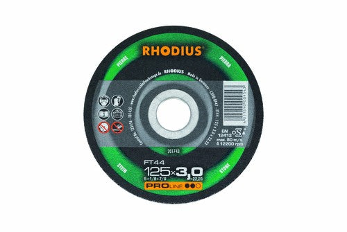 Rhodius 230 x 3 x 22.23mm FT44 Cutting Disc Stone Concrete