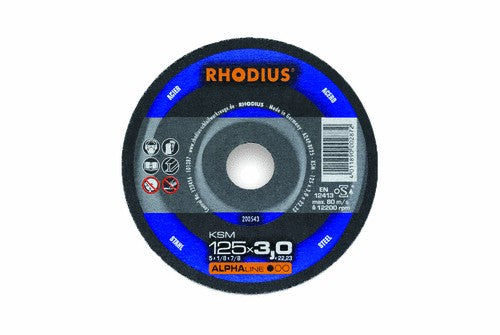 Rhodius 125 x 3 x 22.23mm KSM Cutting Disc Steel