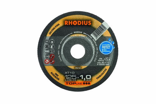 Rhodius 125 x 1 x 22.23mm XT10 Cutting Disc Stainless Steel