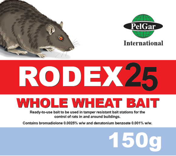 Rodex 25 Whole Wheat Bait 150g