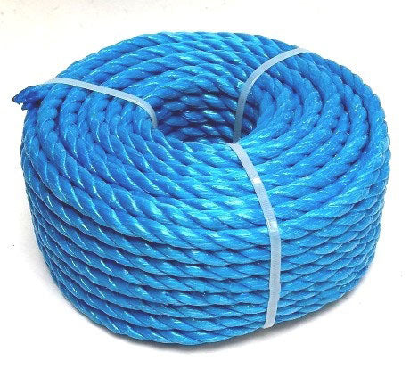 Rope Poly Blue 6mm - price per metre