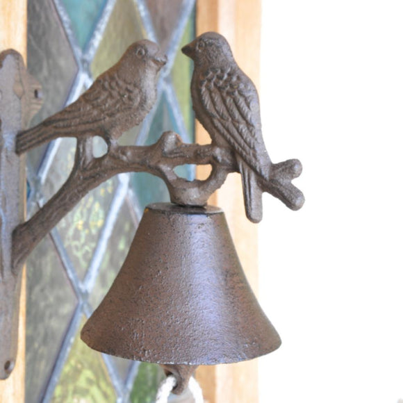 Adobe Doorbell Two Birds Bronze
