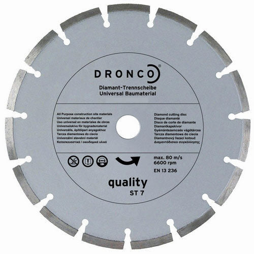 Dronco 230 x 2.4 x 22.2mm Budget Diamond Disc