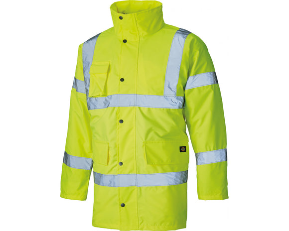 Dickies Hi Vis Motorway Safety Jacket Fluorescent Yellow