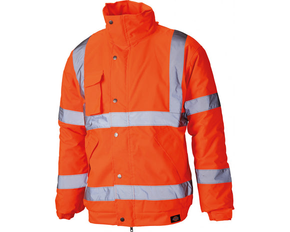 Dickies High Visibility Bomber Jacket Orange