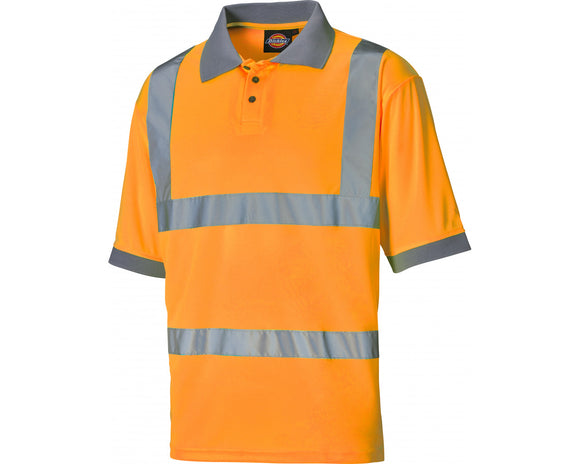 Dickies Mens Hi Vis Top Orange
