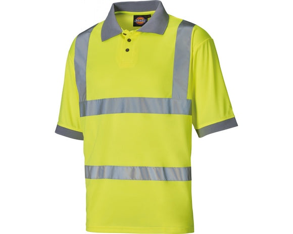Dickies Mens Hi Vis Top Yellow