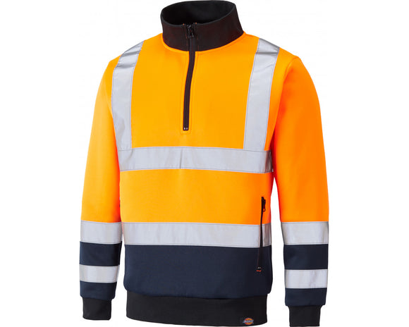 Dickies Mens Hi Vis Sweatshirt Orange