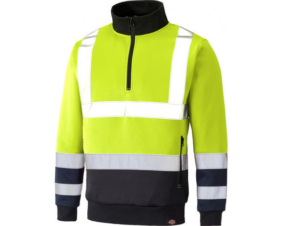 Dickies Mens Hi Vis Sweatshirt Yellow