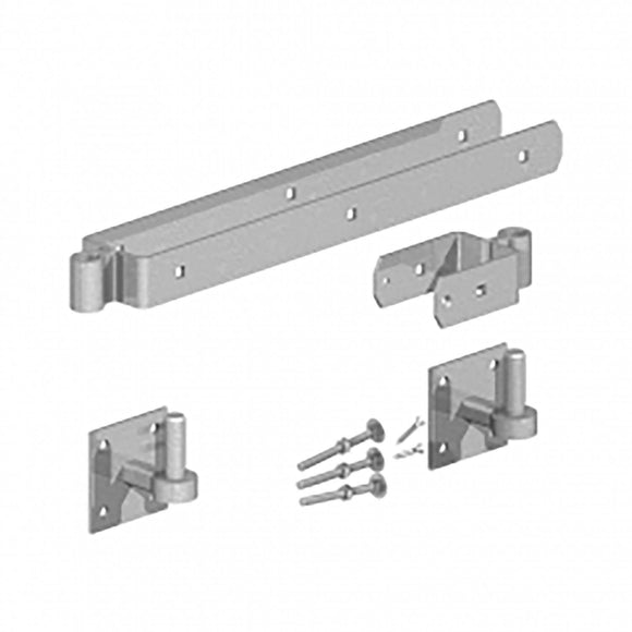 Birkdale GATEMATE Field Gate Double Strap Hinge Set with Hooks on Plates