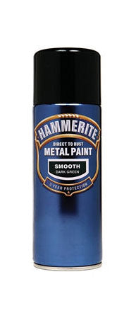 Hammerite Direct To Rust Metal Paint - Smooth Finish Aerosol in Black 400ML