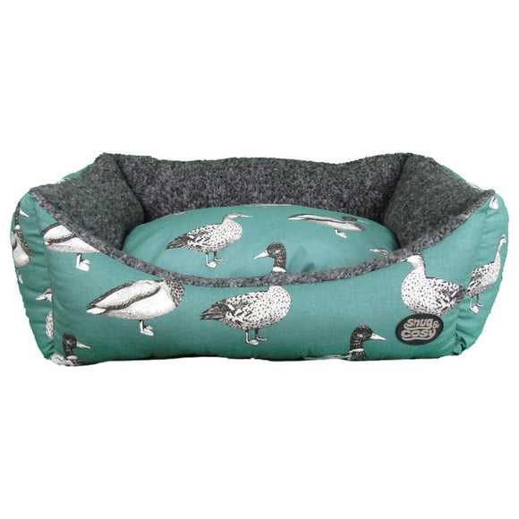Snug & Cosy Teal Duck Print Rectangular Bed