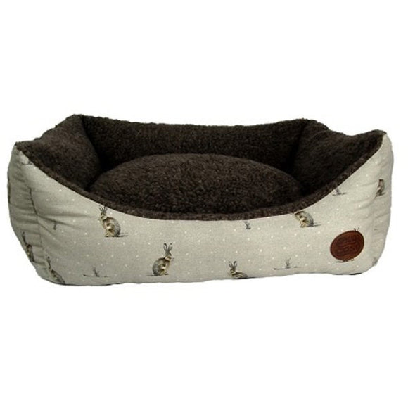 Snug & Cosy Hare Print Rectangle Bed