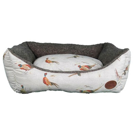 Snug & Cosy Nature Pheasant Print Rectangular Bed