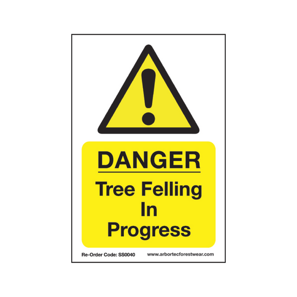 Treehog SS0040 Corex Safety Sign Tree Felling In Progress