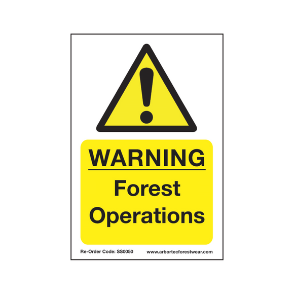 Treehog SS0050 Corex Safety Sign Warning Forest Operations