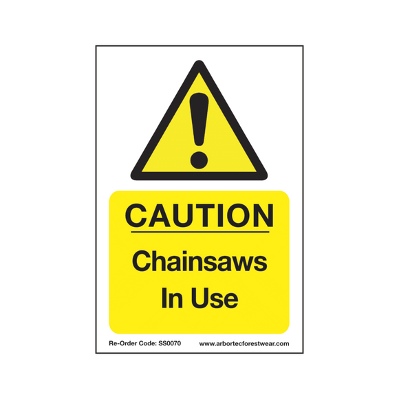 Treehog SS0070 Corex Safety Sign Chainsaws In Use