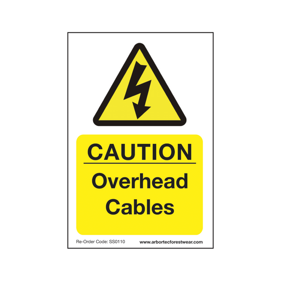 Treehog SS0110 Corex Safety Sign Caution Overhead Cables