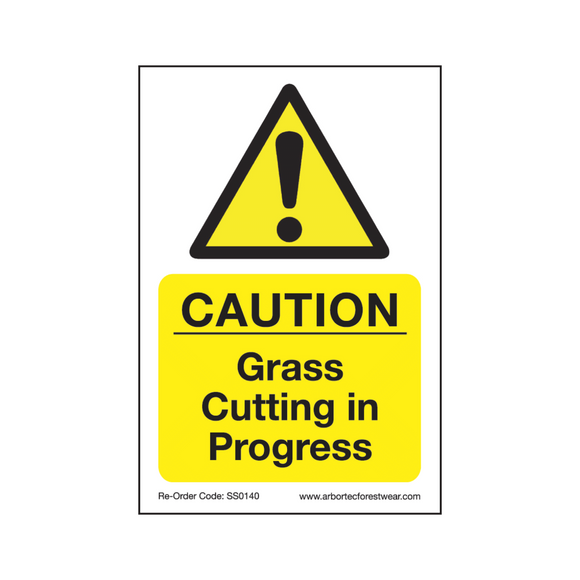 Treehog SS0140 Corex Safety Sign Grass Cutting in Progress