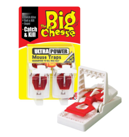 The Big Cheese Ultra Power Mouse Traps x2