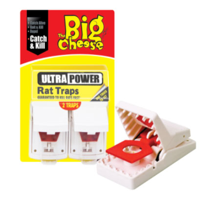 The Big Cheese Ultra Power Rat Trap 2-Pack