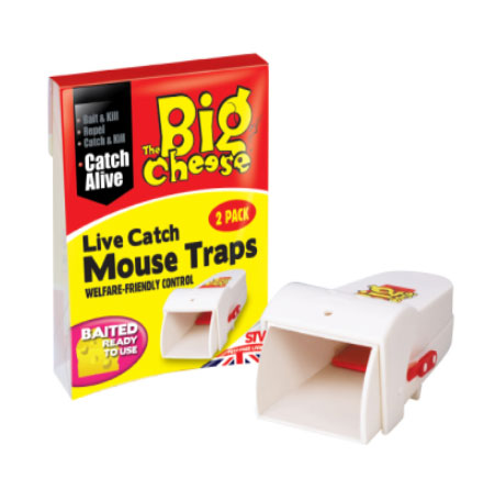 The Big Cheese Live Catch Mouse Traps 2-Pack