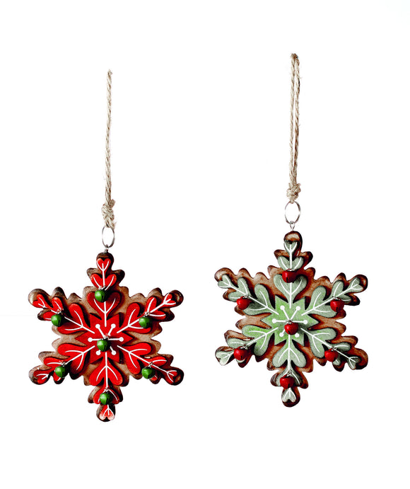 Premier Snowflake Hanging Christmas Tree Decoration