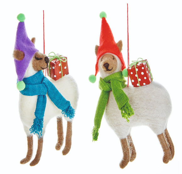 Premier Llama Carrying Presents Hanger Assorted