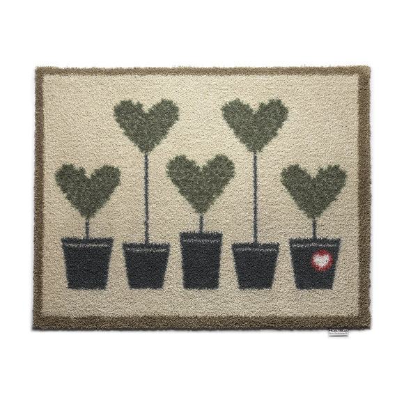 Hug Rug Door Mat Topiary 10 Heart Trees