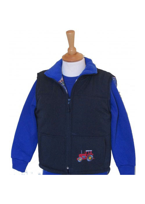 British Country Collection Tractors Padded Gilet