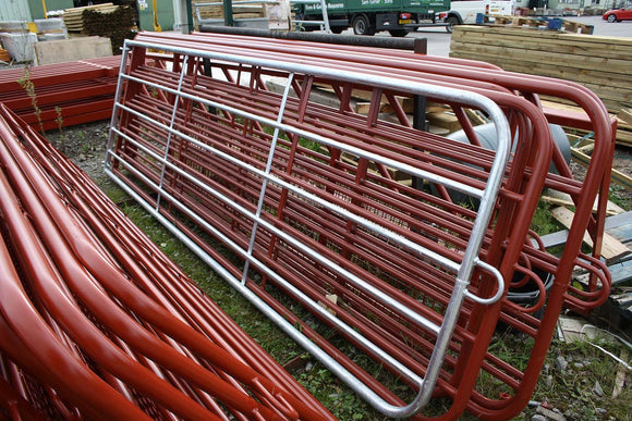 Tubular Field Gate Galvanised with Gate Eyes 10' & 6 Rails