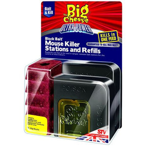 The Big Cheese Ultra Power Mouse Killer Station & Refills