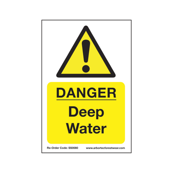 Treehog SS0080 Corex Safety Sign Danger Deep Water