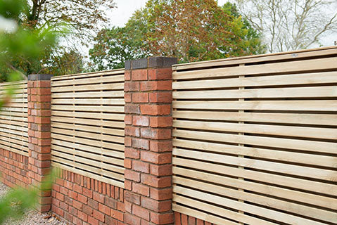Forest Contemporary Double Slatted Fence Panel 0.9m
